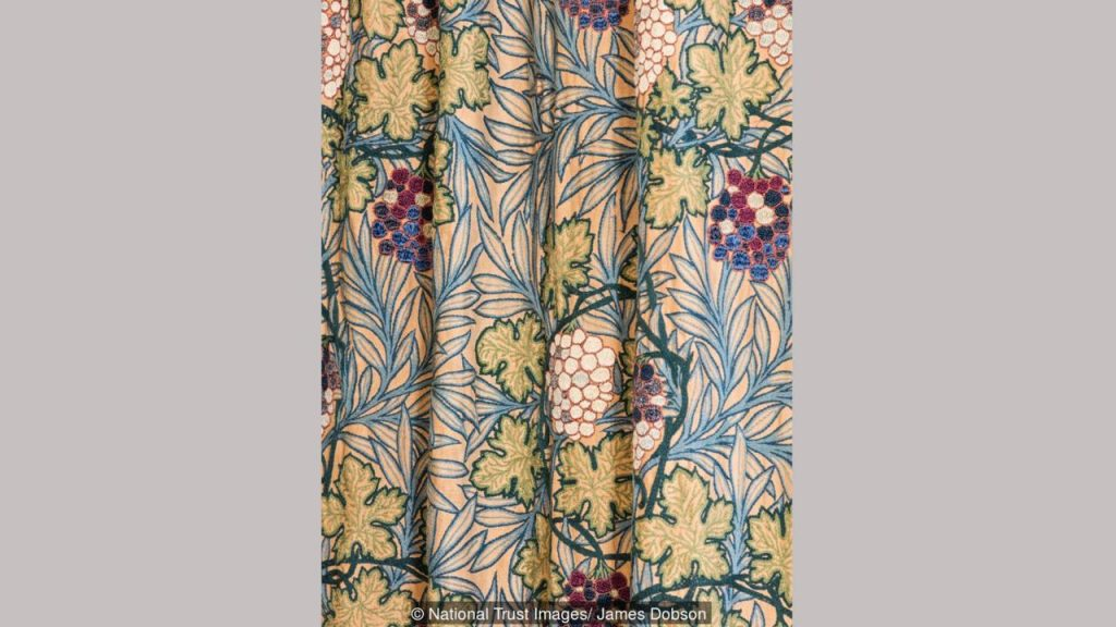 The Vine textile design was embroidered by Margaret Beale and daughters